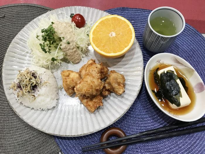 ヴィッセル神戸寮母・村野明子さんのセブンルール「盛り付けはワンプレート」5色健康法 唐揚げ