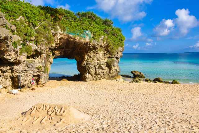 宮古島 砂山ビーチの風景