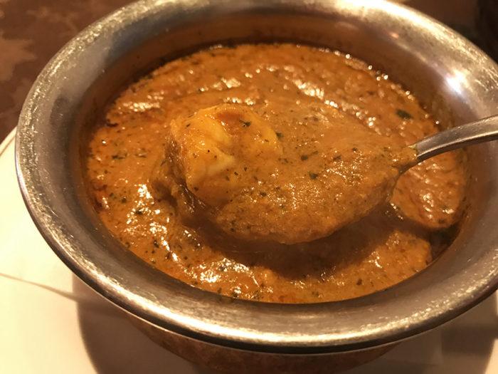 インド料理ビスヌ長崎店のシュリンプカレー