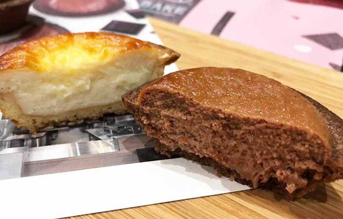 ベイク2019バレンタイン限定「焼きたてチョコレートチーズタルト」の断面!