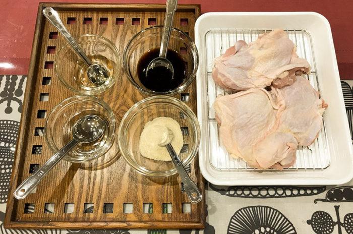材料 booniq真空低温調理器もも肉 照り焼き