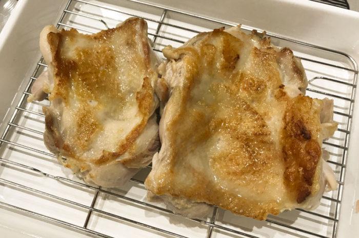 バットにあげる booniq真空低温調理器もも肉 照り焼き