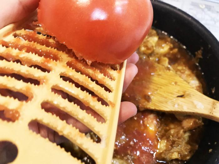 チキンカレー トマトすりおろし