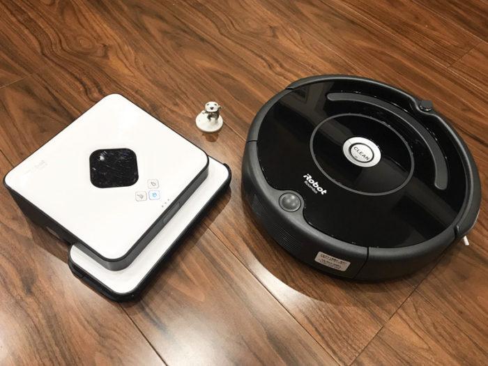 床拭きロボットブラーバvsロボット掃除機ルンバ
