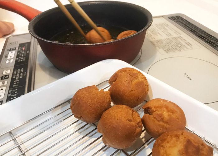 沖縄サーターアンダギの簡単レシピ 出来上がり