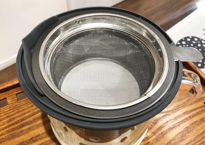 耐熱ガラス製活性炭油ろ過オイルポットW 注ぎ口ホルダーセット