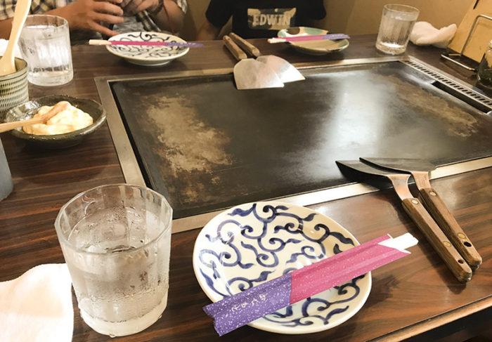 諫早「中道」お好み焼き-食べる前